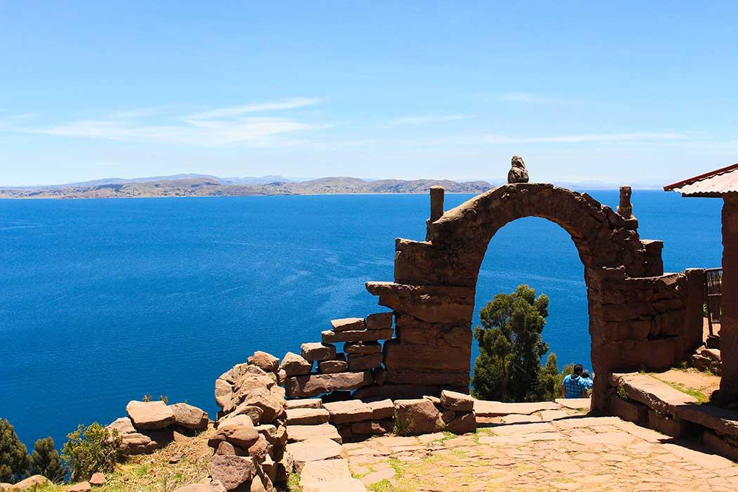 Lac titicaca bleu